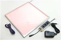 "LED Panels for backlighting stone and translucent materials. 12"" x 12"" Sample available in color changing RGB. Easy configuration for plug-and-play functionality."