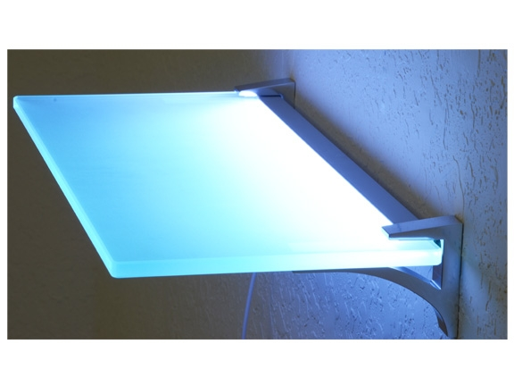 Led Lighted Glass Shelves Kit 10 Quot X 18 Quot Glowback Led