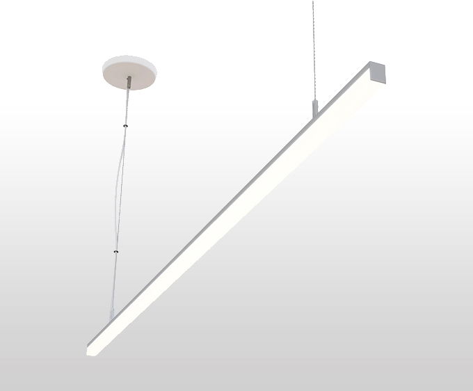 """50w Led Shop Pendant Light Fixture Strip Linear Ceiling: Ultra Bright 72"""" 6 Foot Slim Square Suspended Linear LED"""