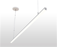 "90"" 8 foot Suspended, Pendant Mounted Linear LED Slim-Suspension Fixture with GlowbackLED powered canopy system. Dimmable Linear Suspension LED Fixture for Offices, Homes, Commercial, Conference Room, and other spaces."