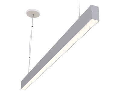 "8ft 1.5"" x 3"" Suspended Linear High Output Compact LED Light Fixture"