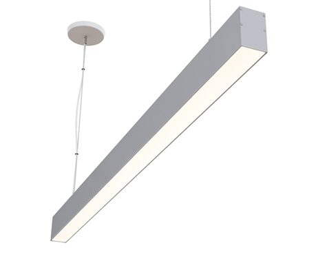 "12ft 2"" x 3"" Linear Cable Suspended Modern High Output LED Light Fixture"