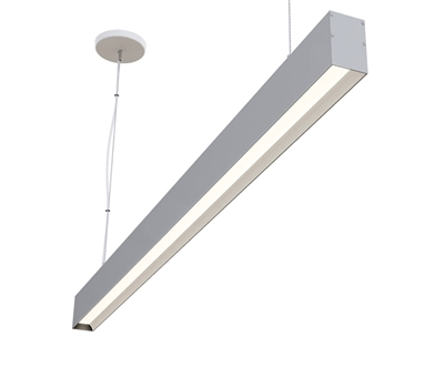 "6ft 2"" x 3"" Low Glare Suspended Linear High Output LED Light Fixture"