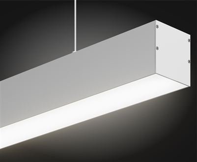"16 foot, 178"" Direct Linear LED Fixture for Suspension/Pendant Mounting linear LED lighting. Ultra High Output 1,875 lumens foot for commercial and industrial lighting applications."