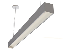 "6ft 3.6"" x 3.3"" Low Glare Suspended High Output Linear LED Light Fixture"