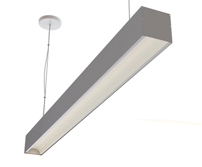 "8ft 3.6"" x 3.3"" Low Glare Suspended High Output Linear LED Light Fixture"
