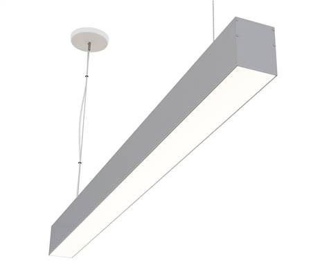 "8 foot, 90"" Direct Linear LED Fixture for Suspension/Pendant Mounting linear LED lighting. 880 lumens foot for commercial and industrial lighting applications."