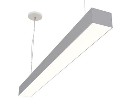 "2ft 4"" x 3"" Linear Suspended High Output Bright LED Light Fixture"