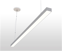 "24"" 2 foot 2"" Wide Slim Suspended, Pendant Mounted Linear LED Slim-Suspension Fixture with GlowbackLED powered canopy system. Dimmable Linear Suspension LED Fixture for Offices, Homes, Commercial, Conference Room, and other spaces."