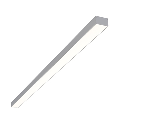 "8ft 2"" x 1.3"" Linear Surface Mounted High Output Slim Compact LED Light Fixture"