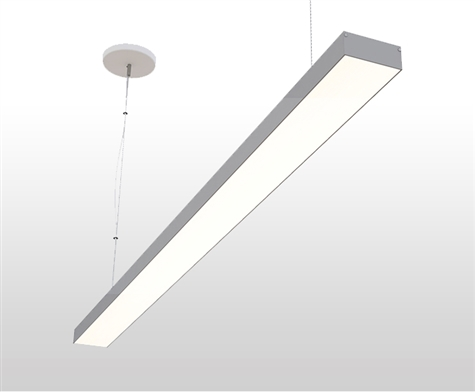 "4ft 3"" x 1.3"" Slim Suspended Linear High Output LED Light Fixture"