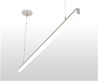 "4ft 0.8"" x 1.4"" Slim Suspended Linear LED Light Fixture"