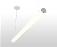 "8ft 2.3"" Diameter Round Suspended Linear LED Light Fixture"