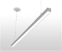 "6ft 1.4"" x 1.3"" Slim Suspended Linear High Output LED Light Fixture"