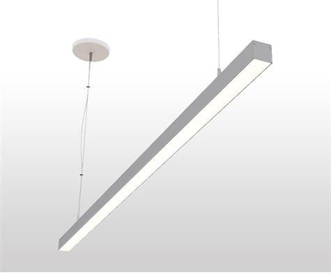 "8ft 1.4"" x 1.3"" Slim Suspended Linear High Output LED Light Fixture"