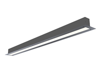 2 foot 2 inch wide recess mount linear light fixture with mud-over plaster bead for trim-less linear lights made in Miami. Mud over flange to get clean, even 2 inch wide runs of high output, UL-listed Lighting. Connect directly to 120-277 Volt Input