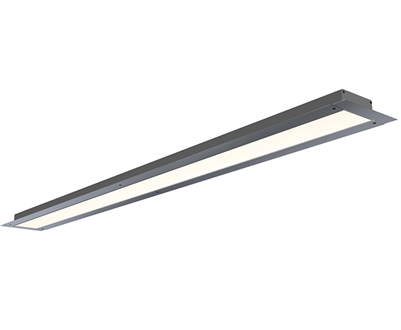 GlowbackLED 3 Inch Wide Trim-Less Recessed Linear LED Lighting built to your specs any size from 72 to 96 inches for a high end tailored look. UL Listed and manufactured in Miami. Plaster bead for smooth, trim-less finish.