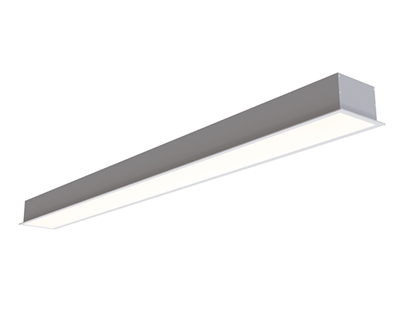 6ft 4 Inch Wide Recessed High Output LED Light Fixture with 120-277 or 347VAC Input