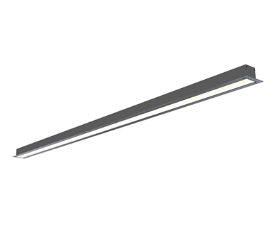 1 Inch Wide Trim-Less Recessed Linear LED Lighting built to your specs any size from 72 to 96 inches for a high end tailored look. UL Listed and manufactured in Miami. Plaster bead for smooth, trim-less finish.