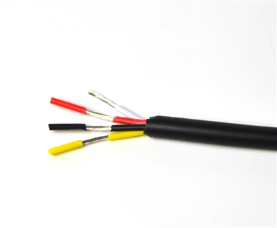 Wire for Color Changing RGB LED Light Strips. Tin coated, 18AWG, 4 conductor wire, Outdoor Grade.