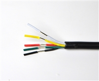 Wire for Color Changing and White RGBW LED Light Strips. Tin coated, 18AWG, 5 conductor wire. Outdoor Grade