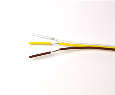 Wire for Color Temperature Changing, CCT LED light strips. Tin coated, 3 conductor, 20 AWG.