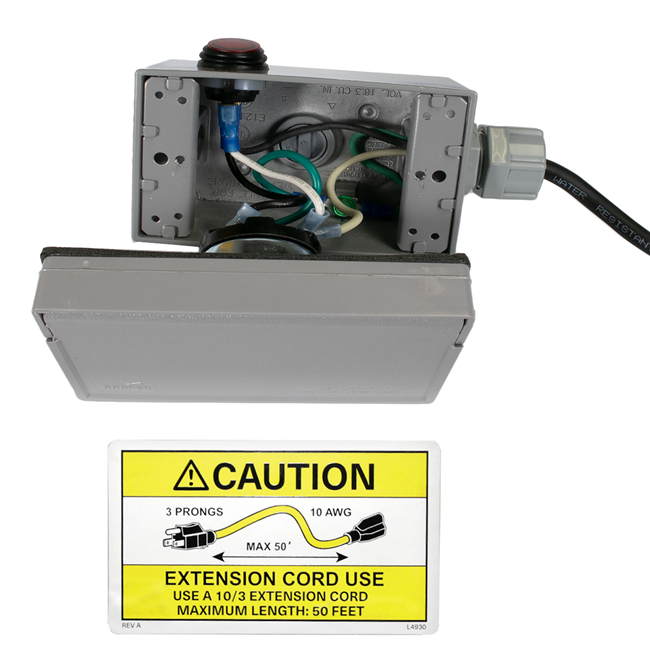 782106S Electrical Box 12V with Switch