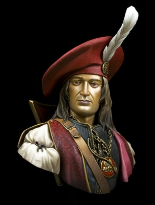 Venetian Admiral, 200mm (1/9) Scale Resin Bust