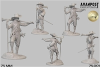 Musketeer, 1630 75mm, resin figure