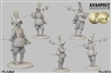 Infantry Sergeant, 1630 75mm, resin figure,