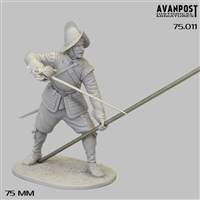 European Pikeman, XVII century, 75mm resin full figure