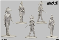 French Infantry Officer, 1812, 75mm scale resin figure
