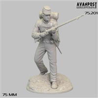 Confederate Soldier, 1864, 75mm Resin full figure