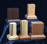 Wood bases (Bases by Bill) in various sizes and colors