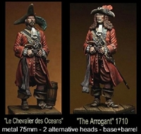 The Arrogant, 75mm resin figure with alternate heads