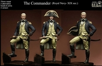 The Commander, (Royal Navy-XIX-sec.), 75mm resin figure with optional heads and right arm