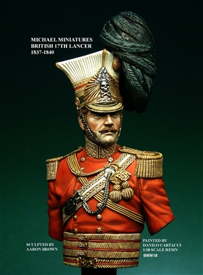 British 17th Lancer, 1837-1840, 1/10 Scale Resin Bust