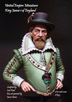 King James I of England, 1/10 Scale Resin Bust