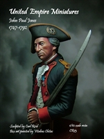 John Paul Jones, 1747-1792, 1/10 Scale Resin Bust