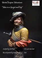 """Man in a Gorget and Cap"", 1/10 Scale Resin Bust"