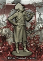 Polish Winged Hussar, 90mm white metal figure