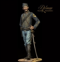 "3rd New Jersey Cavalry ""The Butterfly Hussars"", 90mm white metal figure"