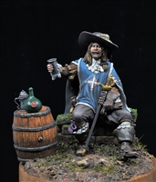 Porthos from the Three Musketeers. 75mm figure produced by Medieval Forge.  This is the box art figure painted by Jim Rice.