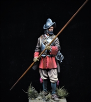 Spanish Pikeman circa 1690 produced by Scale 75 in 75mm.  Painted by Jim Rice