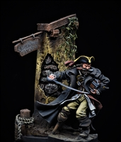 54mm Pirate with scenic base produced by Andrea.  Painted by Jim Rice