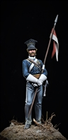 Lancer, 17th Regt. Crimea 1854 produced by Andrea in 54mm.  Painted by Jim Rice