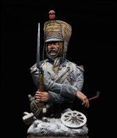 Berezina, 1812. Medieval Forge resin bust in 1/10 scale painted by James Rice with original decorative base and snow effects.