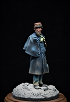 This is a resin figure in 54mm of a Civil War Zouave Officer circa 1862.  Painted by Jim Rice