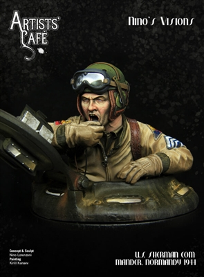 U.S. Sherman Commander, Normandy 1944, 200mm (1/9) Scale Resin Bust
