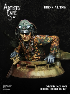 German Tiger Commander, Normandy 1944, 200mm (1/9) Scale Resin Bust